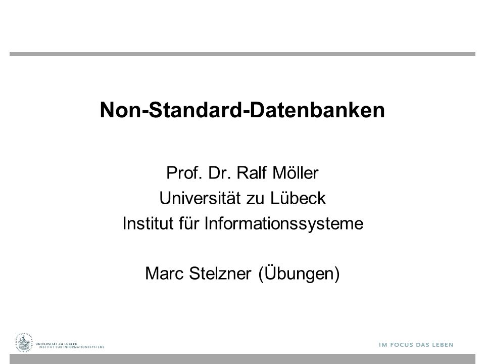 Non-Standard-Datenbanken Prof. Dr.