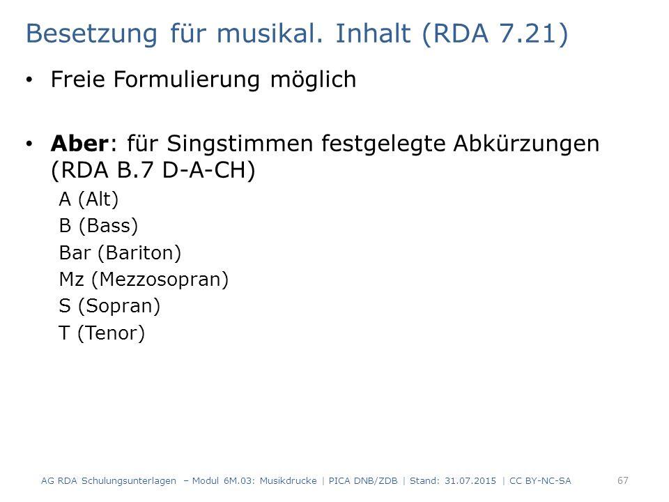 Besetzung für musikal.