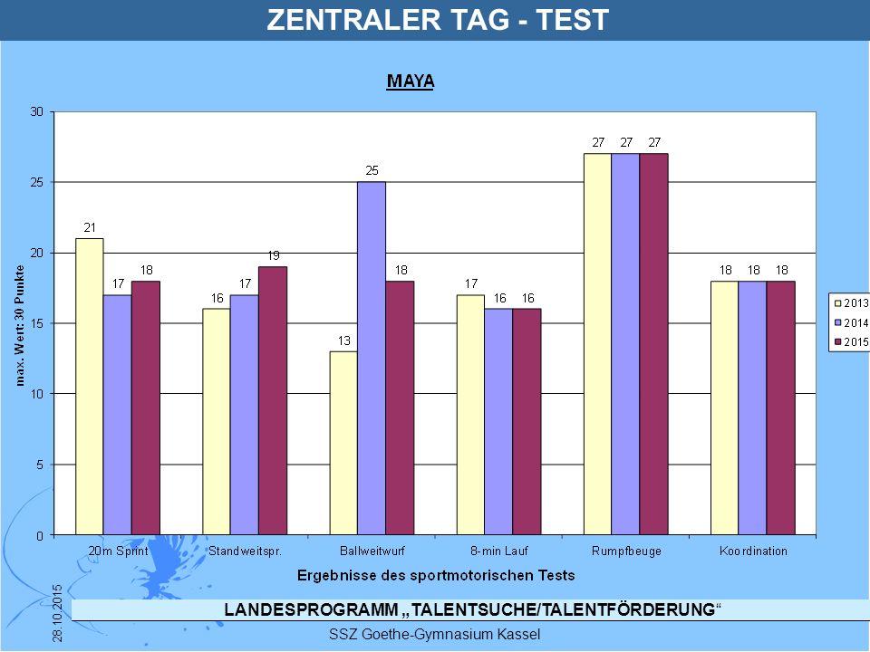 """LANDESPROGRAMM """"TALENTSUCHE/TALENTFÖRDERUNG"""" SSZ Goethe-Gymnasium Kassel 28.10.2015 ZENTRALER TAG - TEST"""