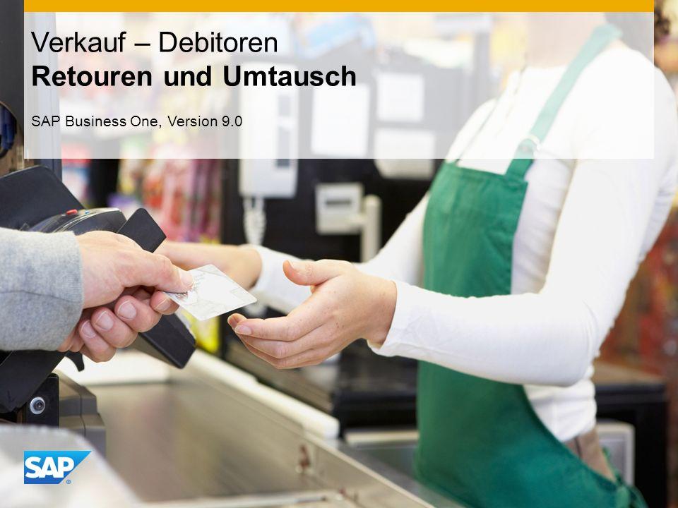 INTERN Verkauf – Debitoren Retouren und Umtausch SAP Business One, Version 9.0