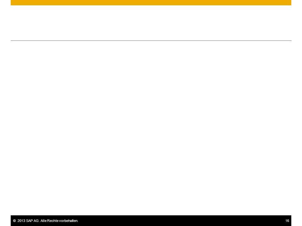 ©2013 SAP AG. Alle Rechte vorbehalten.16