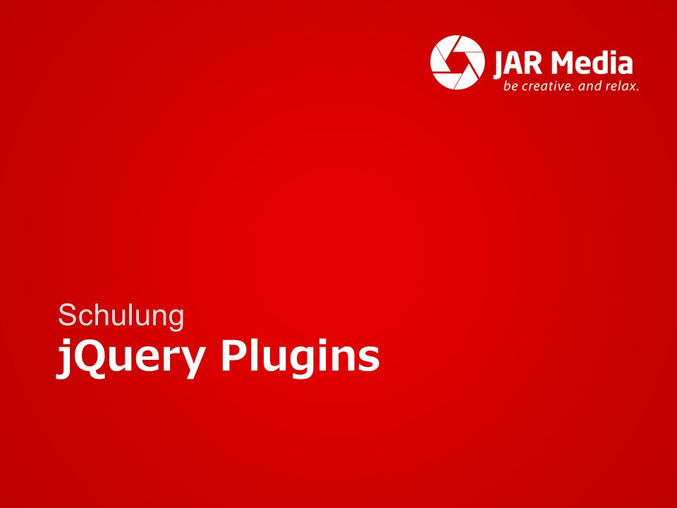 jQuery Plugins Schulung