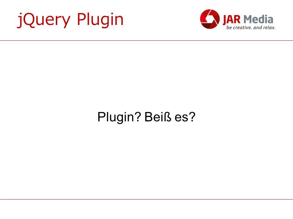 jQuery Plugin - Optionen