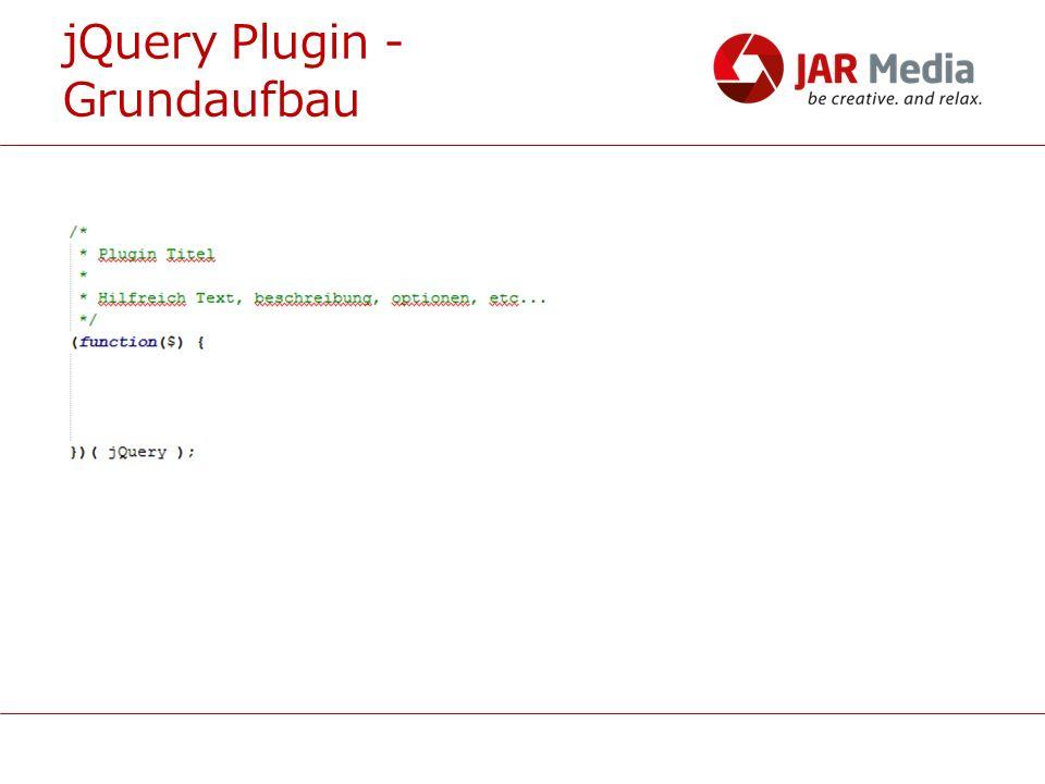 jQuery Plugin - Grundaufbau
