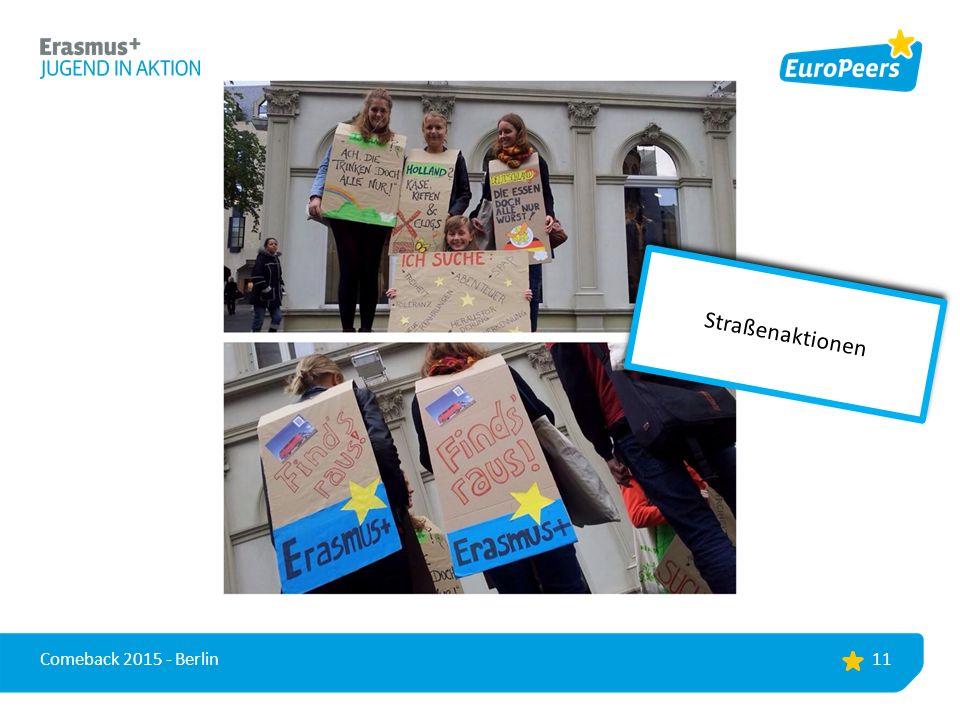 11 Comeback 2015 - Berlin Straßenaktionen