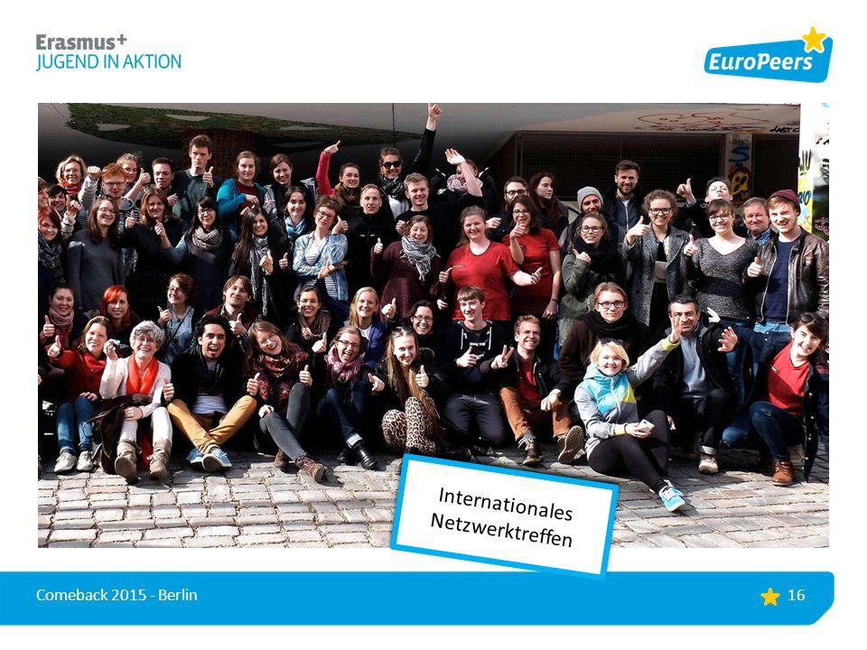 16 Comeback 2015 - Berlin Internationales Netzwerktreffen