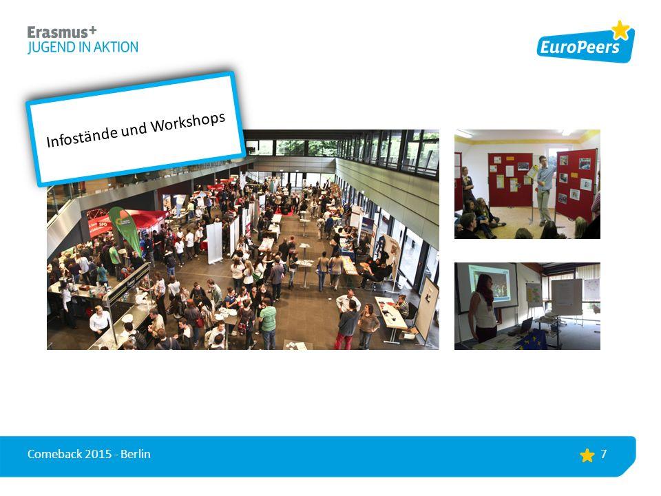 7 Infostände und Workshops