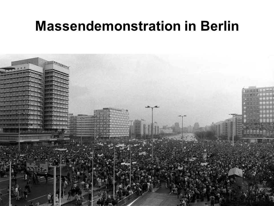 Massendemonstration in Berlin