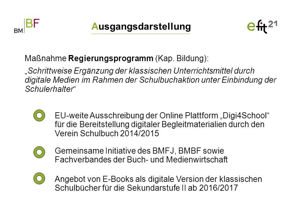 """Ausgangsdarstellung EU-weite Ausschreibung der Online Plattform """"Digi4School"""" für die Bereitstellung digitaler Begleitmaterialien durch den Verein Sch"""