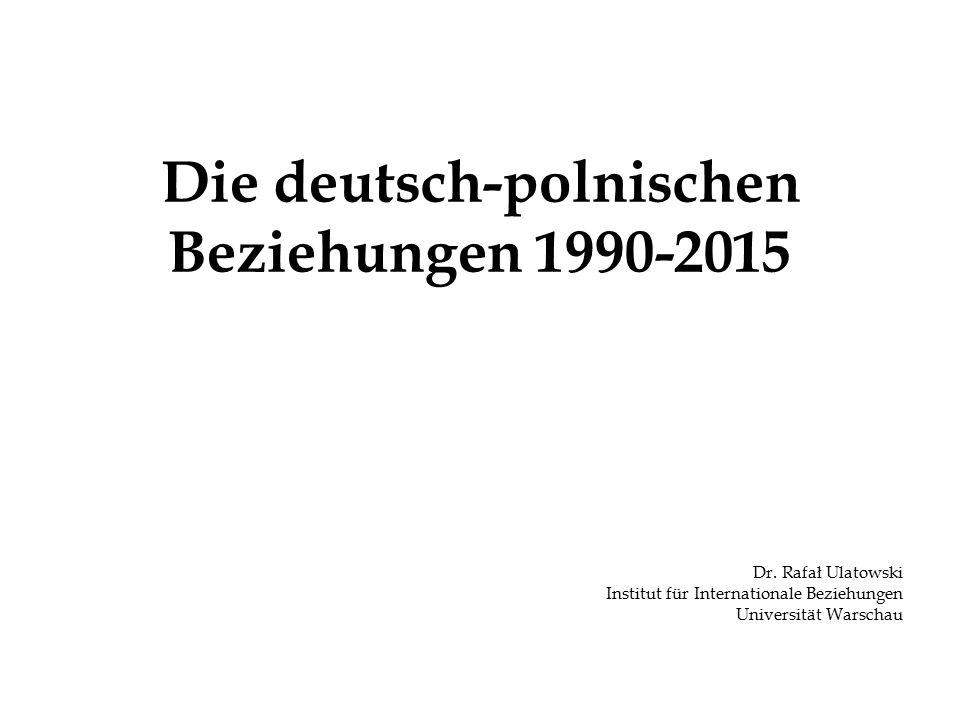 Die deutsch-polnischen Beziehungen 1990-2015 Dr.