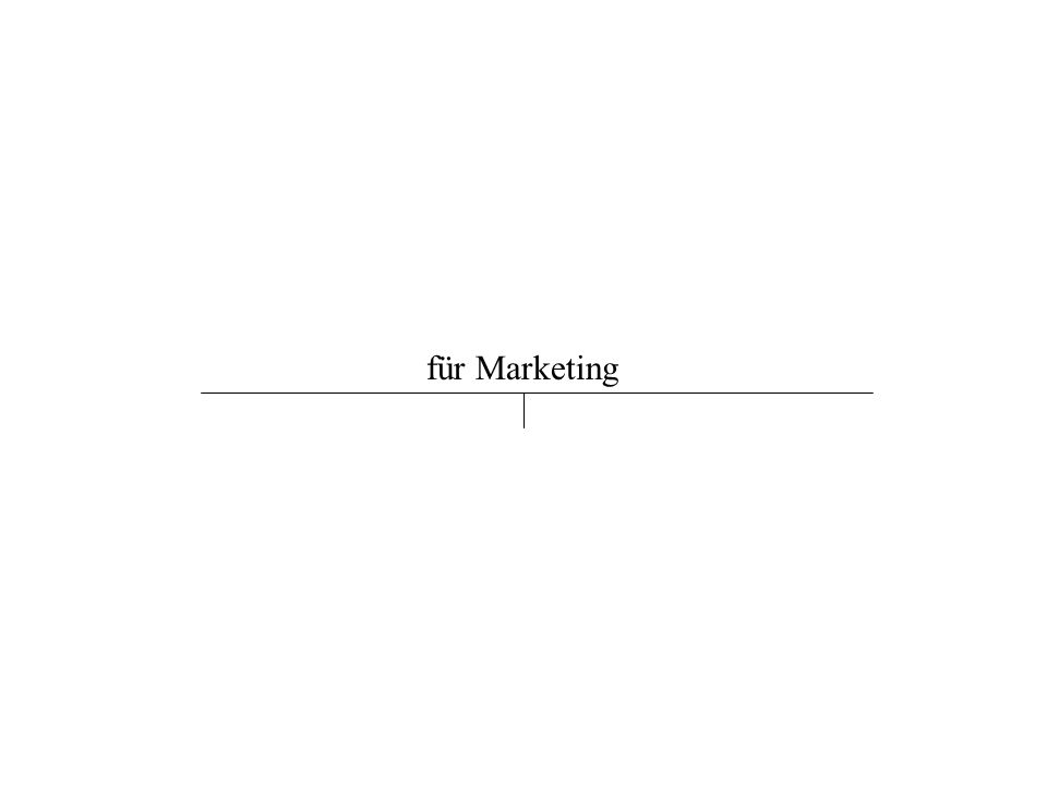 für Marketing