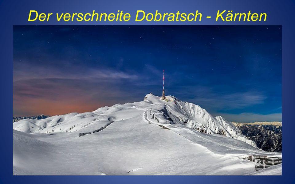Der verschneite Dobratsch - Kärnten
