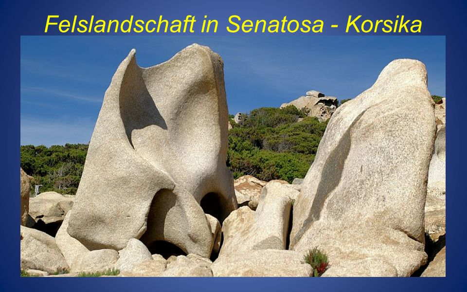 Felslandschaft in Senatosa - Korsika