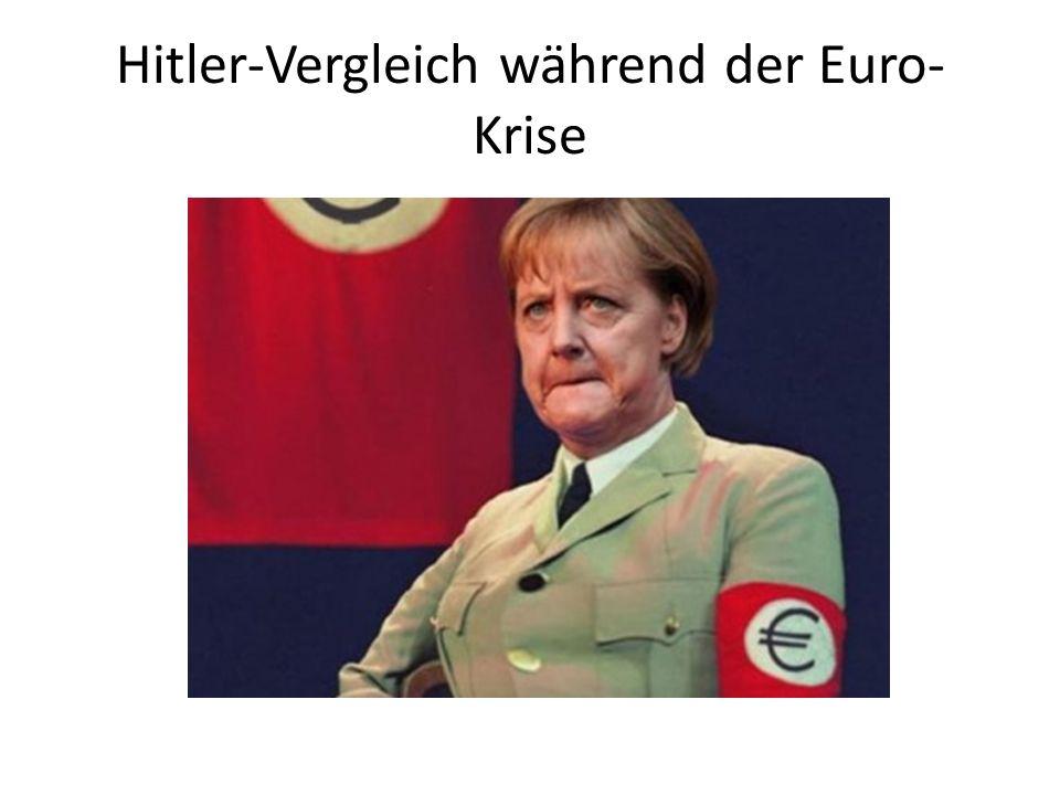 Hitler-Vergleich während der Euro- Krise