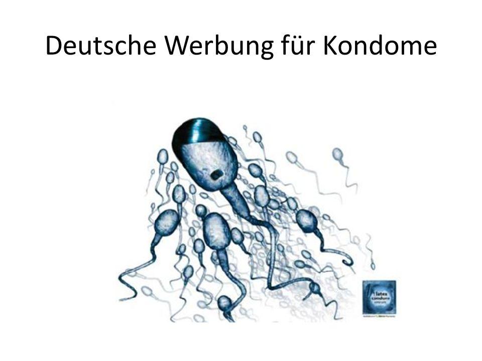 Deutsche Werbung für Kondome