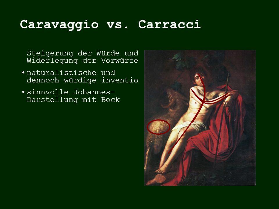 Johannesdarstellung mit Bock formaler Bezugspunkt: Michaelangelo Johannes der Täufer 1,29x1,24m Galleria Borghese, Rom CARAVAGGIO, 1609/10 MICHAELANGE