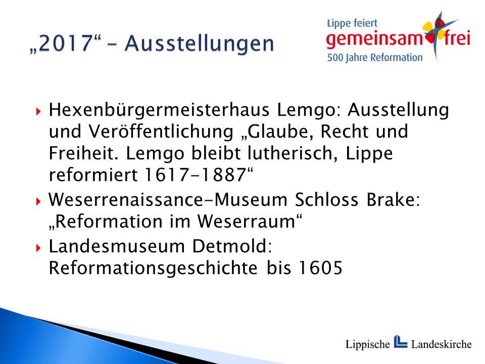 """ Hexenbürgermeisterhaus Lemgo: Ausstellung und Veröffentlichung """"Glaube, Recht und Freiheit."""