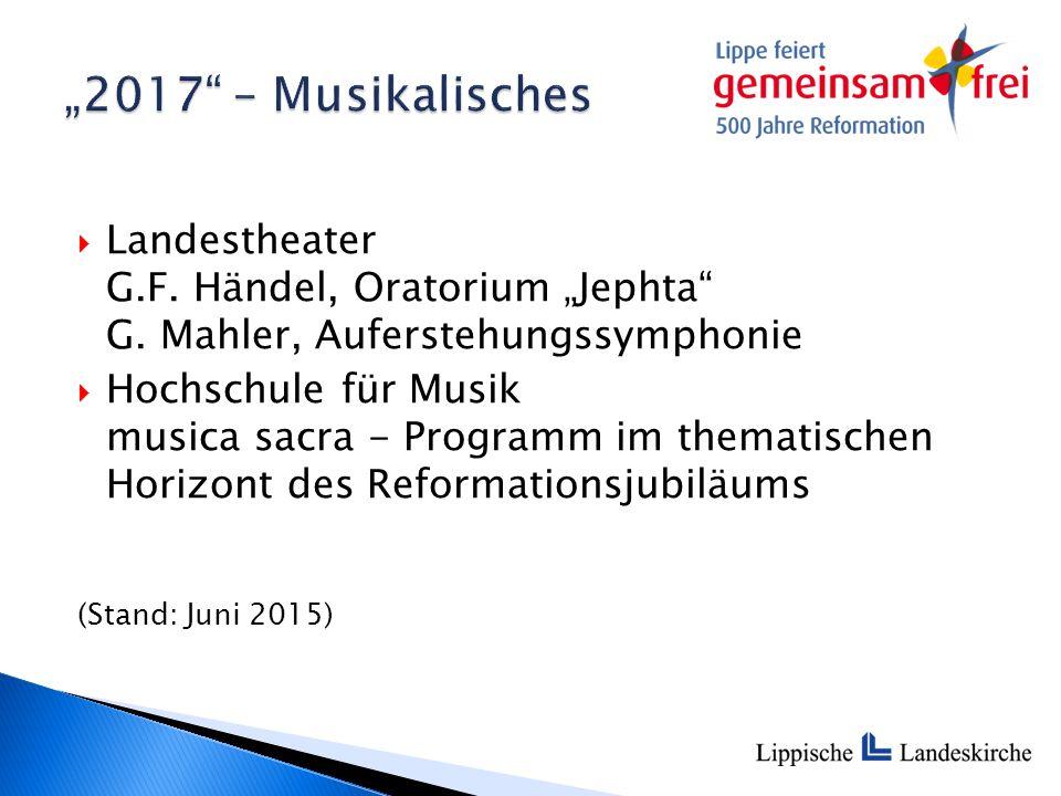 " Landestheater G.F. Händel, Oratorium ""Jephta G."
