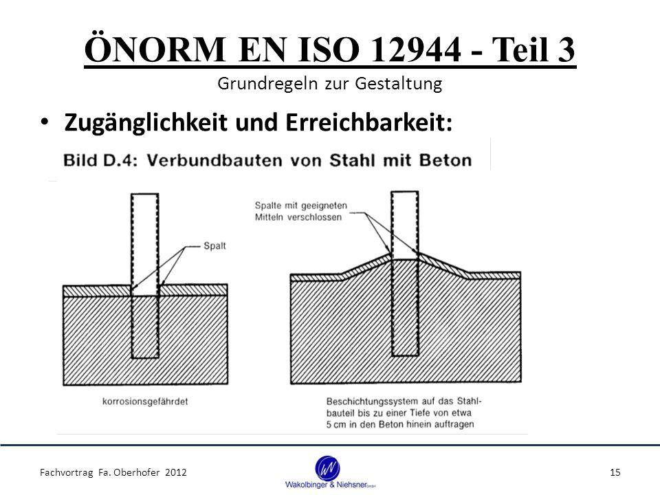 ÖNORM EN ISO 12944 - Teil 3 Grundregeln zur Gestaltung Zugänglichkeit und Erreichbarkeit: Fachvortrag Fa. Oberhofer 201215