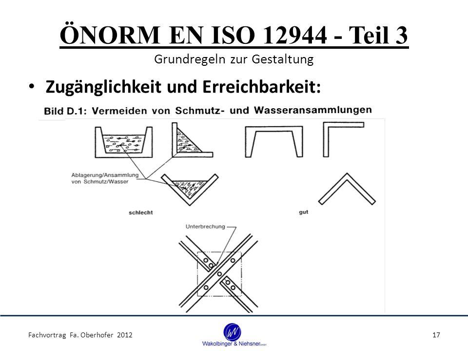 ÖNORM EN ISO 12944 - Teil 3 Grundregeln zur Gestaltung Zugänglichkeit und Erreichbarkeit: Fachvortrag Fa. Oberhofer 201217