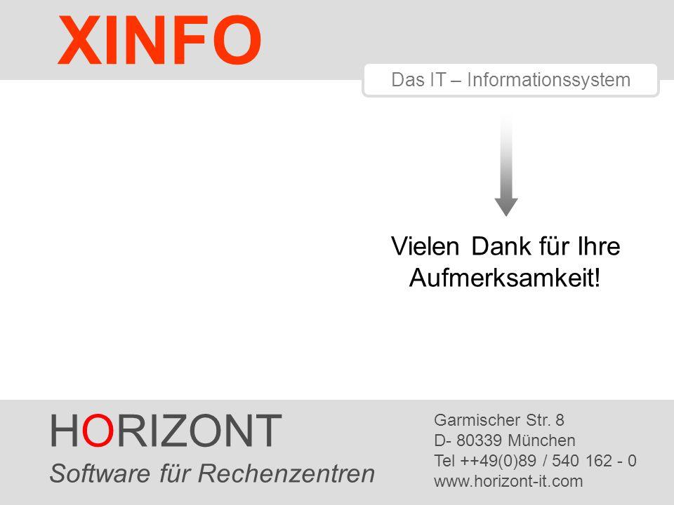 HORIZONT 16 Product HORIZONT Software für Rechenzentren Garmischer Str.