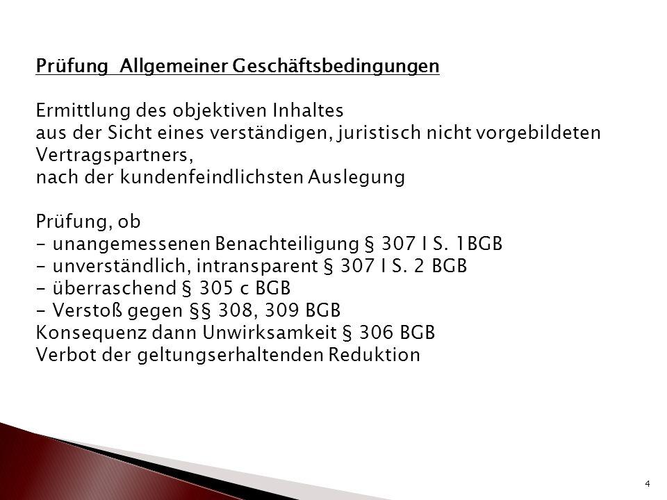 BGH entscheidet am 18.03.2015 : BGH VIII ZR 185/14 BGH VIII ZR 21/13 BGH VIII ZR 242/13 Unwirksamkeit der Renovierungsverpflichtung wenn -Wohnung unrenoviert übergeben wurde -Quotenabgeltungsklausel ist unwirksam weil sie vom Mieter verlangt, hypothetische Betrachtungen anzustellen -Werden teilweise starre Fristen und teilweise weiche Fristen vereinbart ist die gesamte Renovierungsklausel unwirksam 5