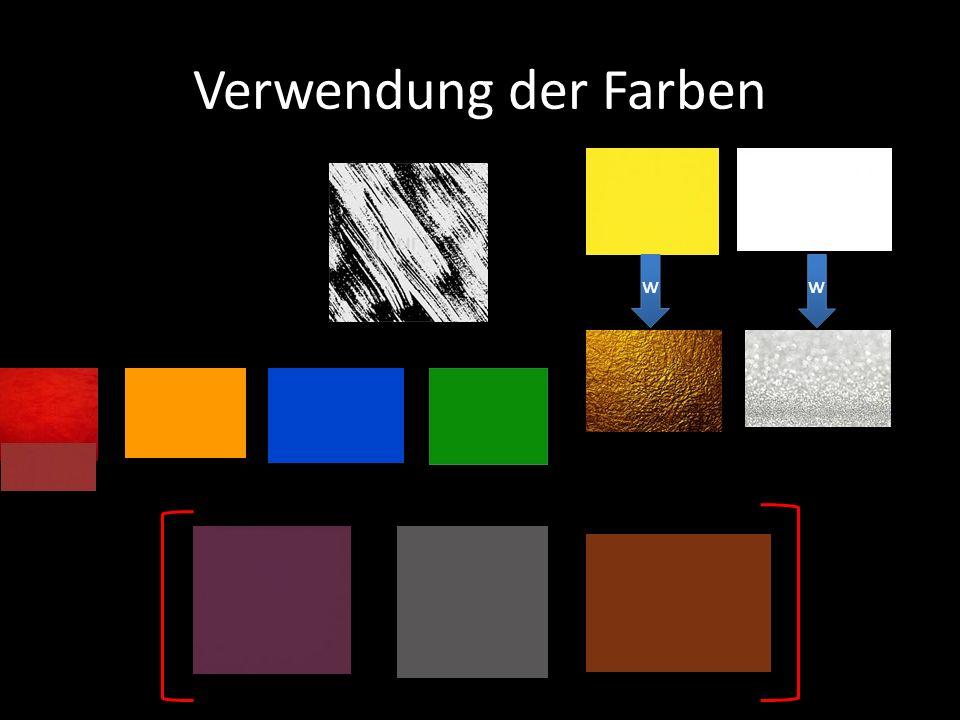 Verwendung der Farben w w w w