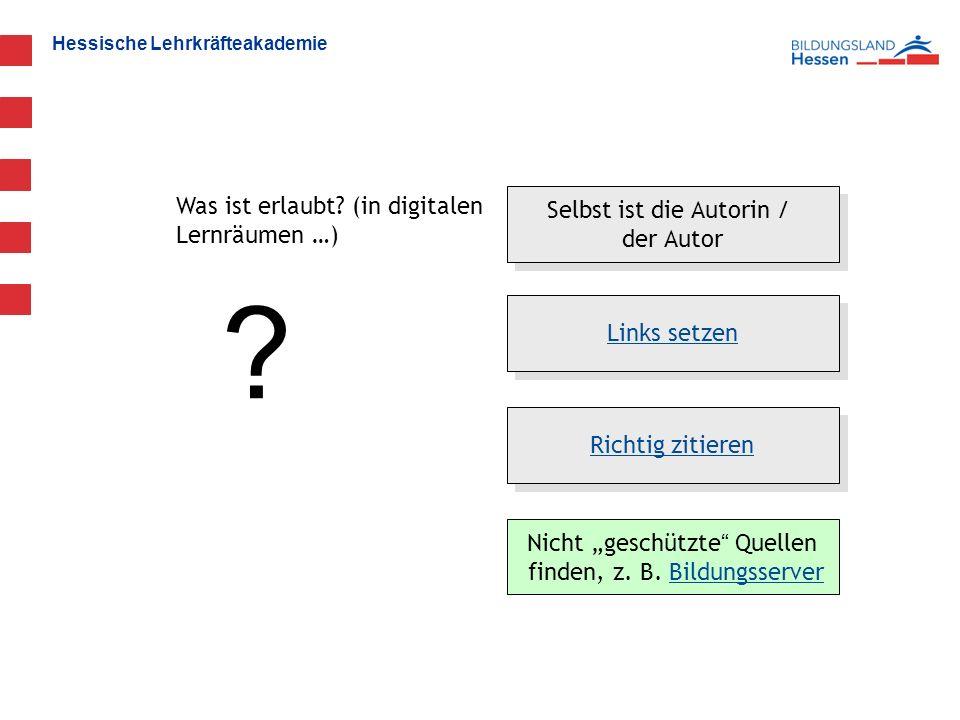 Hessische Lehrkräfteakademie Was ist erlaubt. (in digitalen Lernräumen …) .
