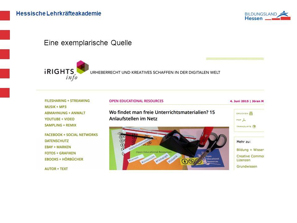 Hessische Lehrkräfteakademie Eine exemplarische Quelle