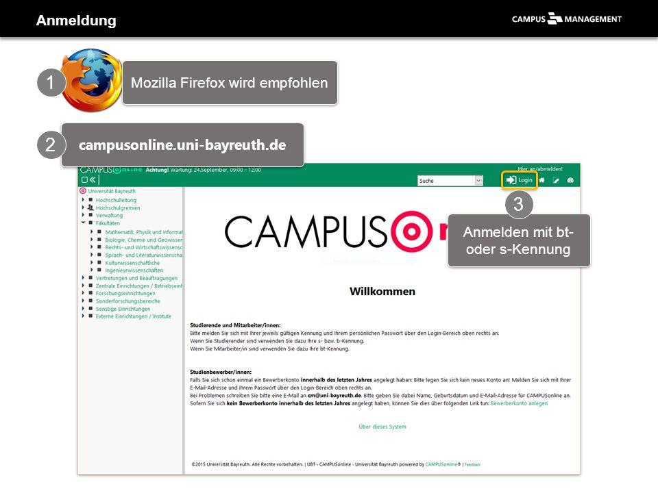 Applikation «Prüfungsverwaltung» - Veranstaltung/Modul wählen Typ festlegen… 1