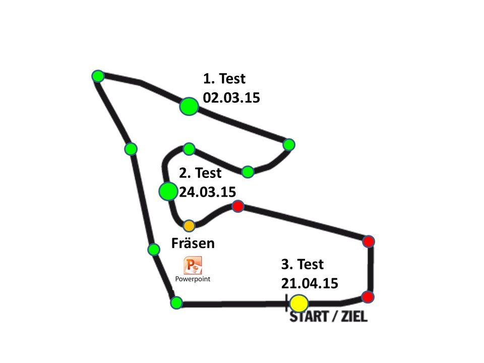1. Test 02.03.15 3. Test 21.04.15 2. Test 24.03.15 Fräsen