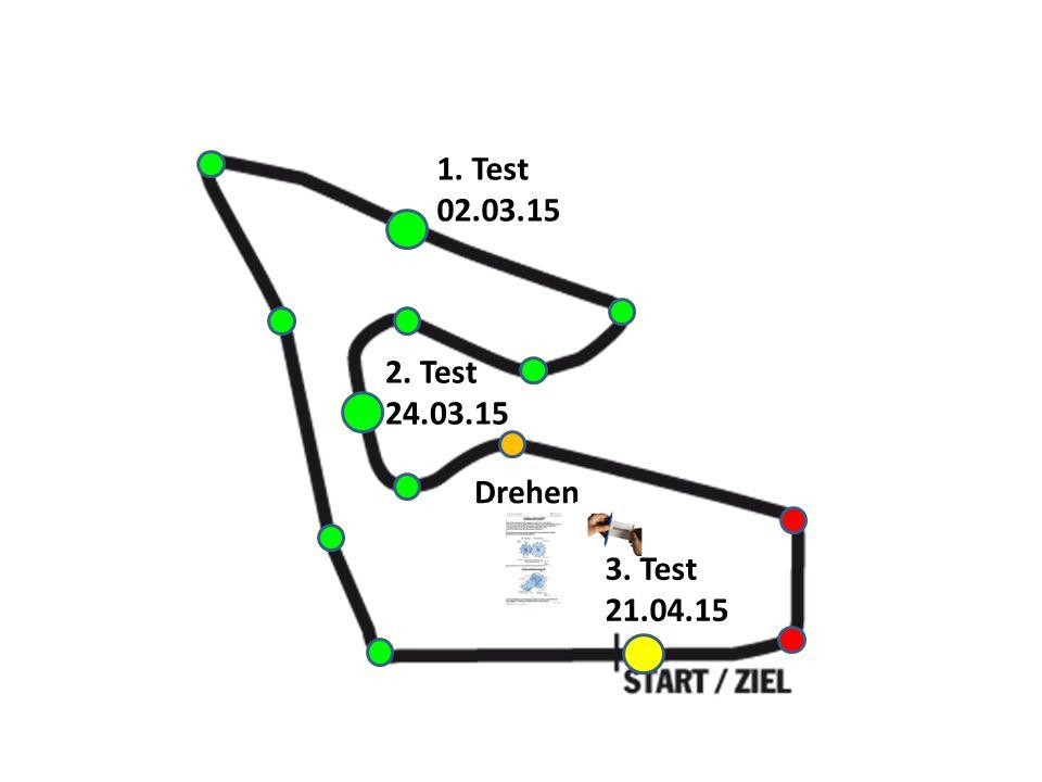 1. Test 02.03.15 3. Test 21.04.15 2. Test 24.03.15 Drehen