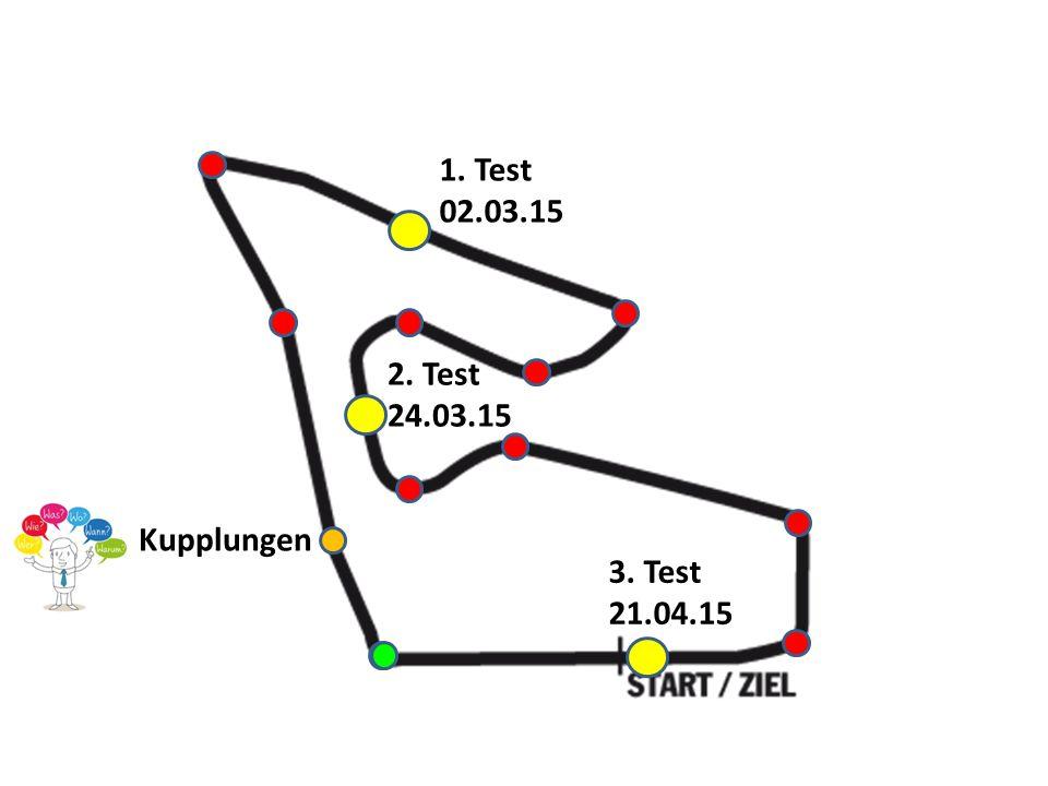 Kupplungen 1. Test 02.03.15 3. Test 21.04.15 2. Test 24.03.15