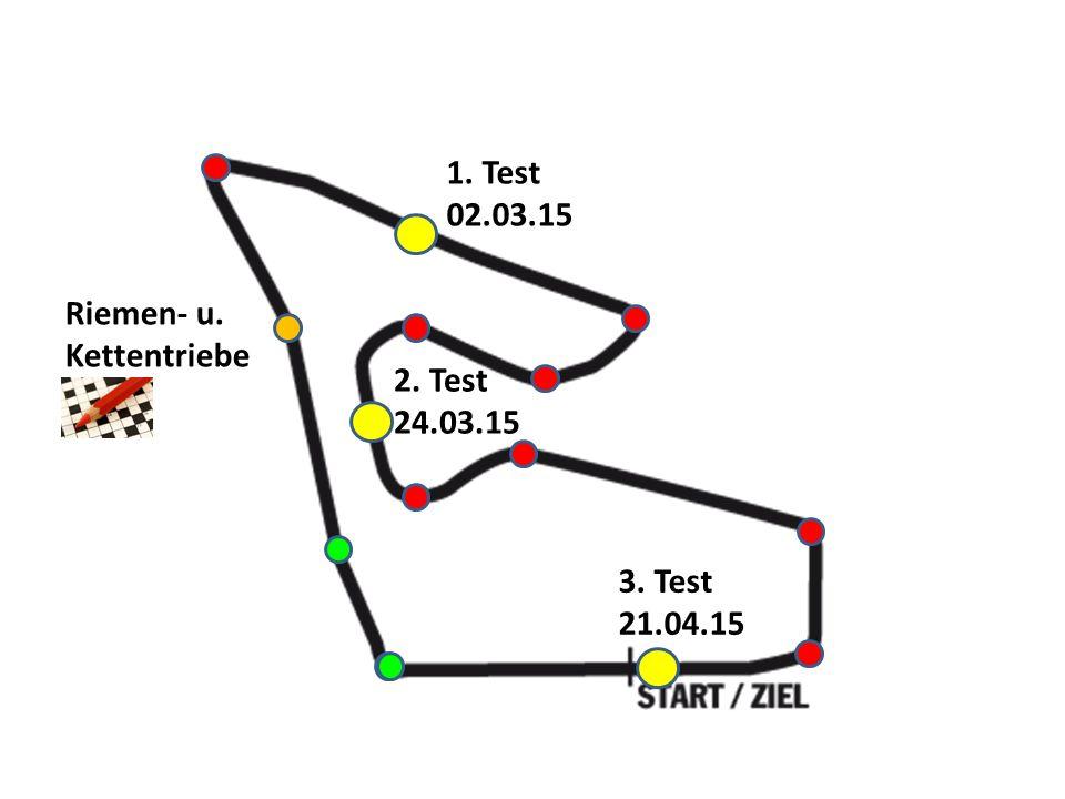 Riemen- u. Kettentriebe 1. Test 02.03.15 3. Test 21.04.15 2. Test 24.03.15