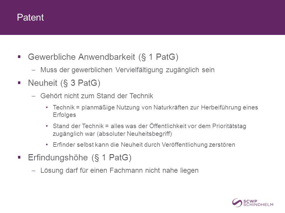Inhalt des Patentrechts  Feststellungsantrag (§ 163 PatG)  Negativ: vom Hersteller / Verkäufer / etc.
