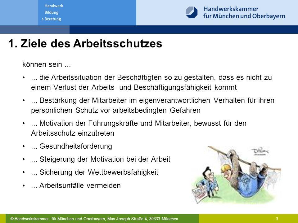 © Handwerkskammer für München und Oberbayern, Max-Joseph-Straße 4, 80333 München 3 können sein...... die Arbeitssituation der Beschäftigten so zu gest