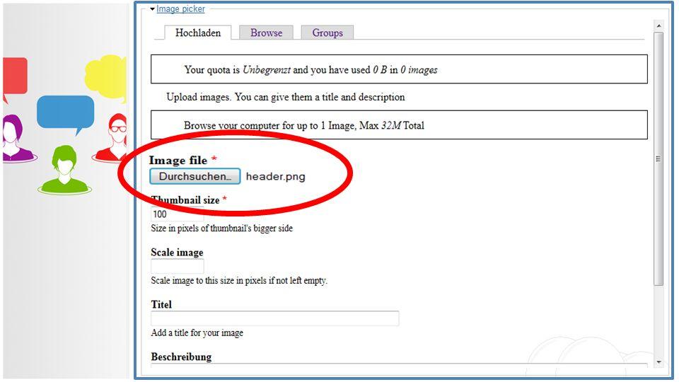 Live-Ticker: Erstellen Beiträge Wollen Sie auch ein Bild im Live- Ticker-Eintrag veröffentlichen, müssen Sie dies erst auf den Webserver übertragen. D
