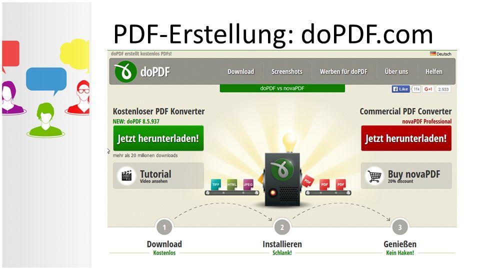 PDF-Erstellung: doPDF.com