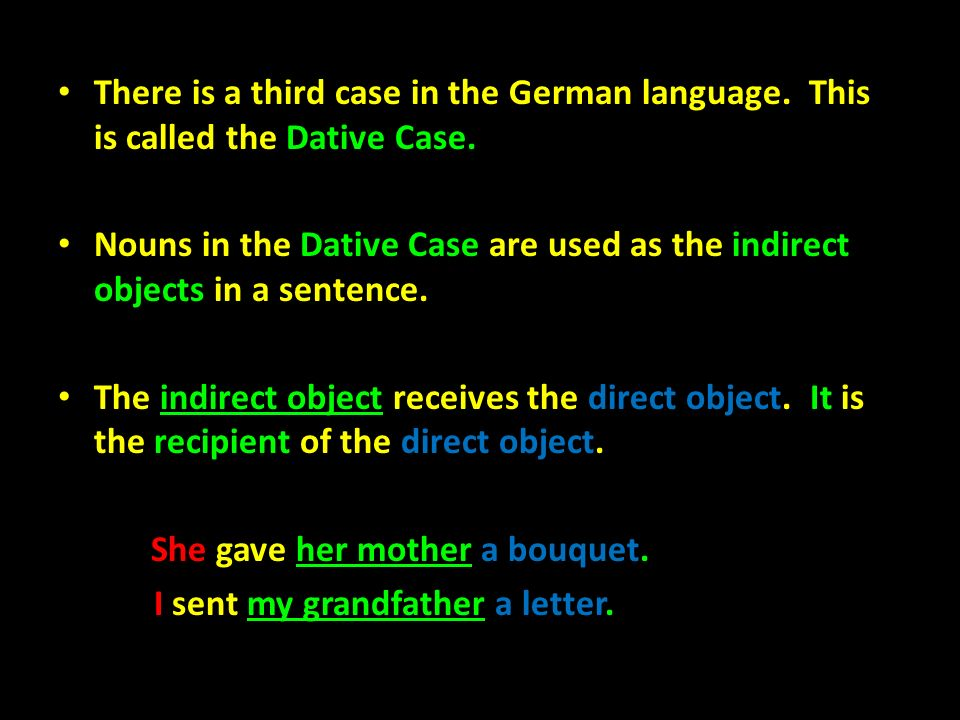 When nouns are used in the Dative Case, the definite and indefinite articles change their spelling.