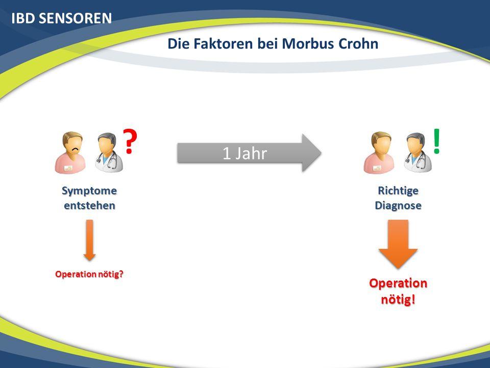 IBD SENSOREN Die Faktoren bei Morbus Crohn .Symptome entstehen 1 Jahr .