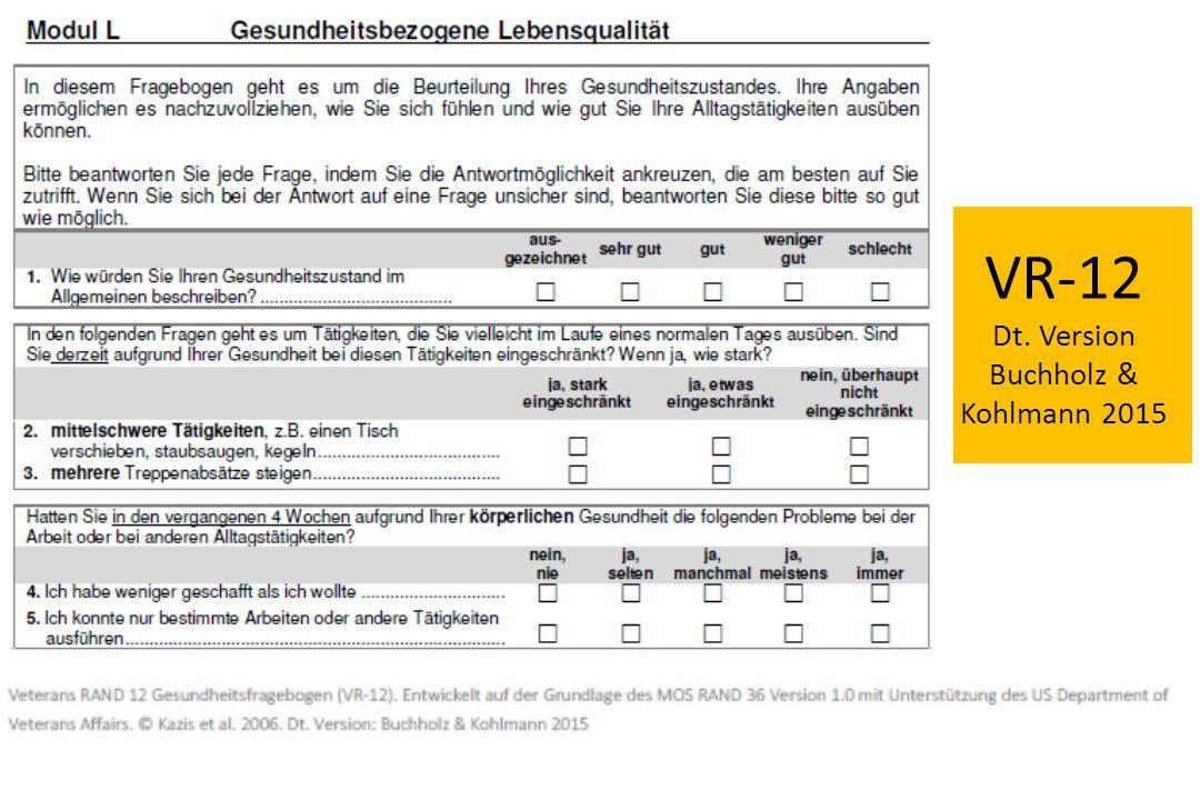 VR-12 Dt. Version Buchholz & Kohlmann 2015