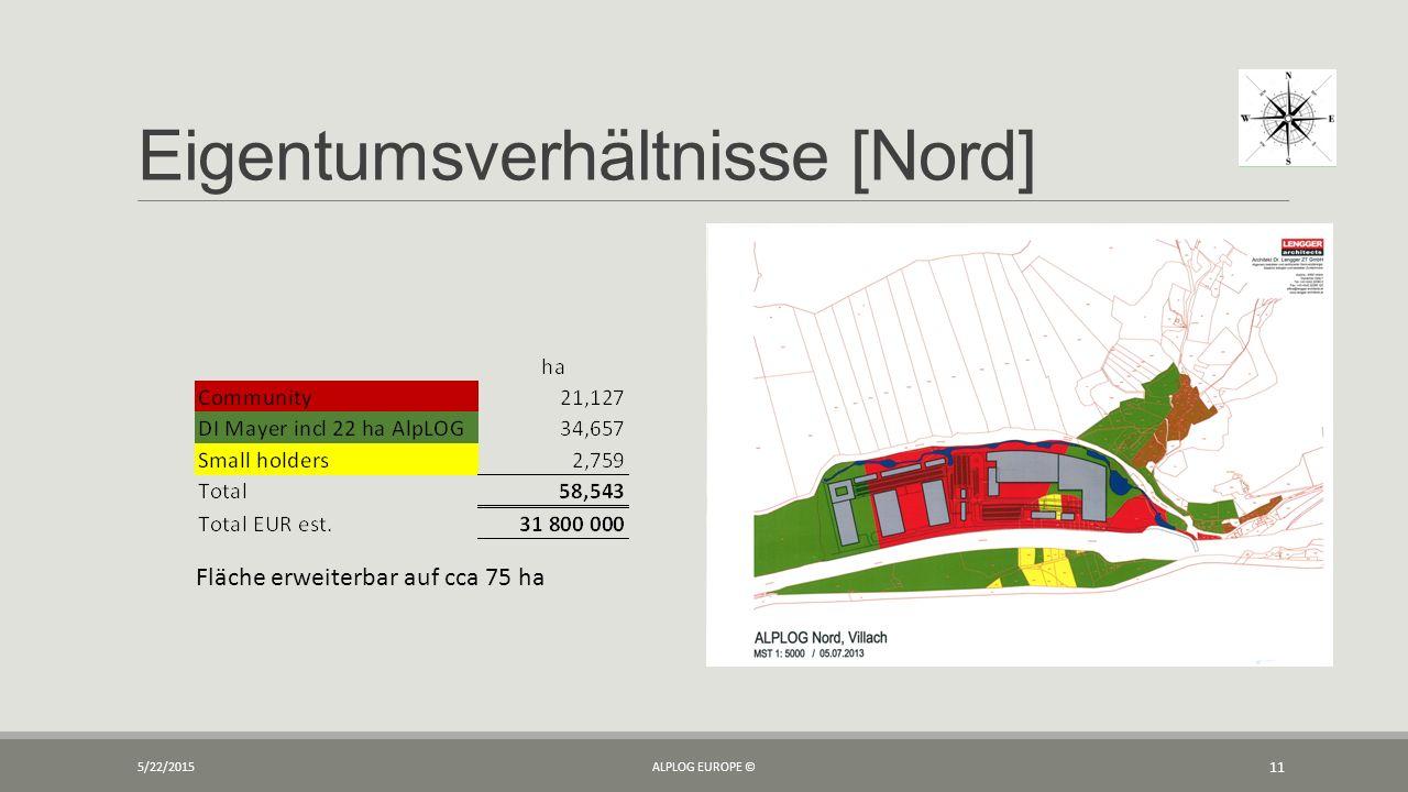 Eigentumsverhältnisse [Nord] 5/22/2015ALPLOG EUROPE © 11 Fläche erweiterbar auf cca 75 ha