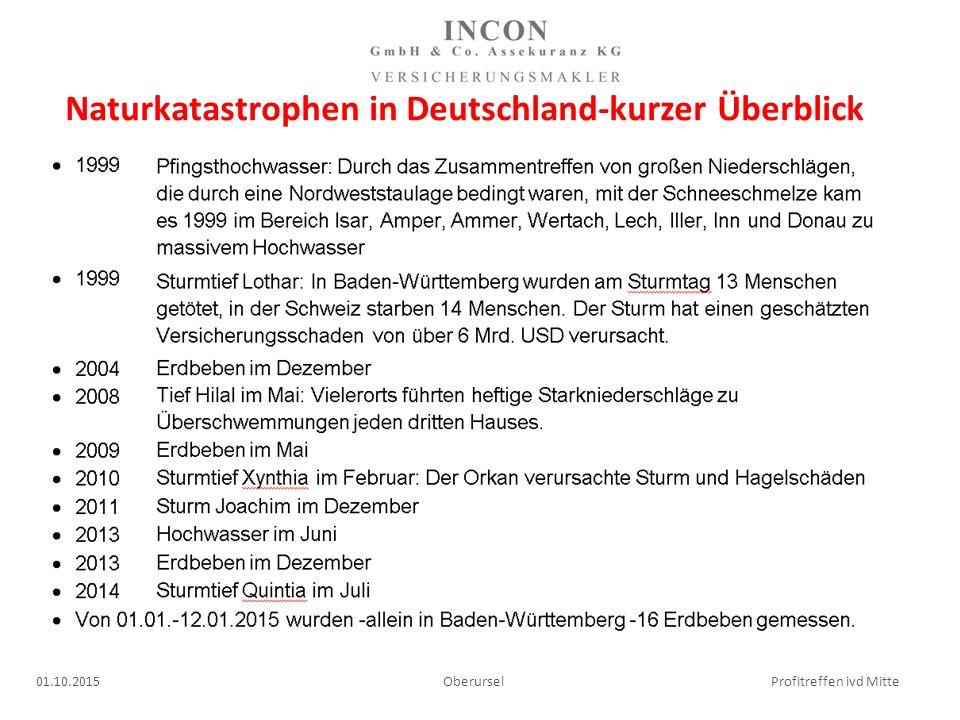 Naturkatastrophen in Deutschland-kurzer Überblick 01.10.2015 Oberursel Profitreffen ivd Mitte
