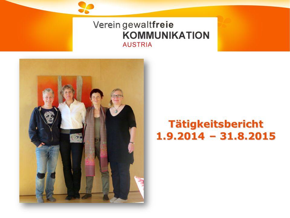 Tätigkeitsbericht 1.9.2014 – 31.8.2015 Verein