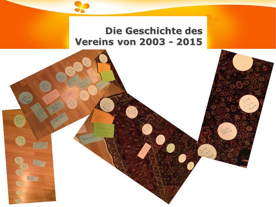 Die Geschichte des Vereins von 2003 - 2015