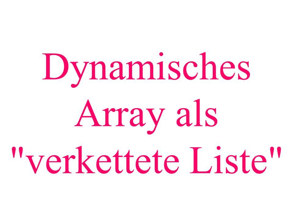 Dynamisches Array als