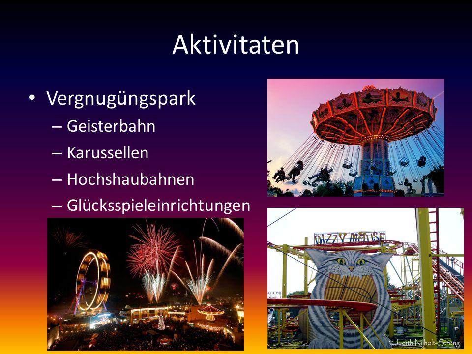 Aktivitaten Vergnugüngspark – Geisterbahn – Karussellen – Hochshaubahnen – Glücksspieleinrichtungen