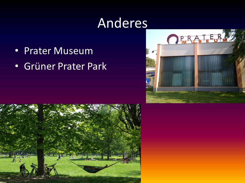 Anderes Prater Museum Grüner Prater Park