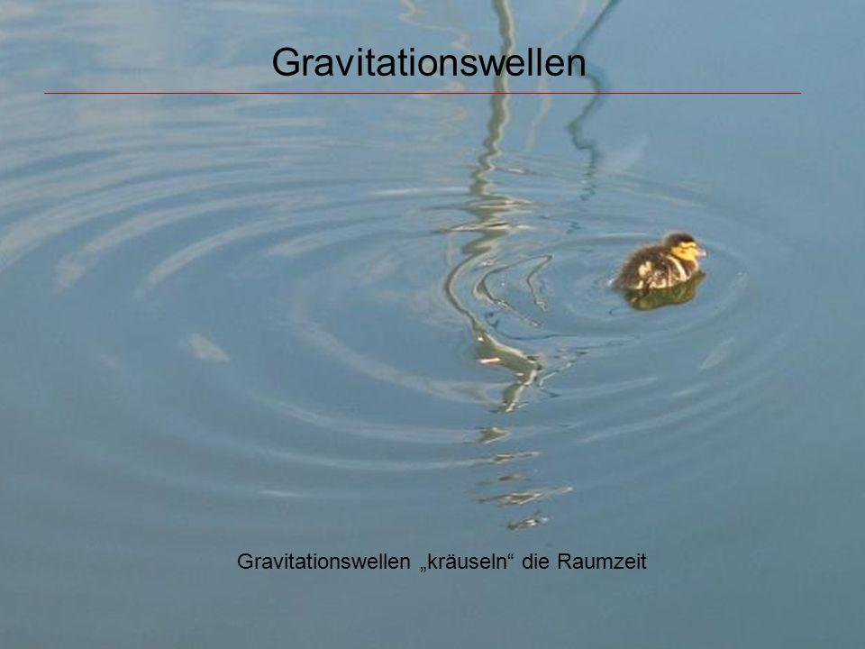 """Gravitationswellen Gravitationswellen """"kräuseln"""" die Raumzeit"""