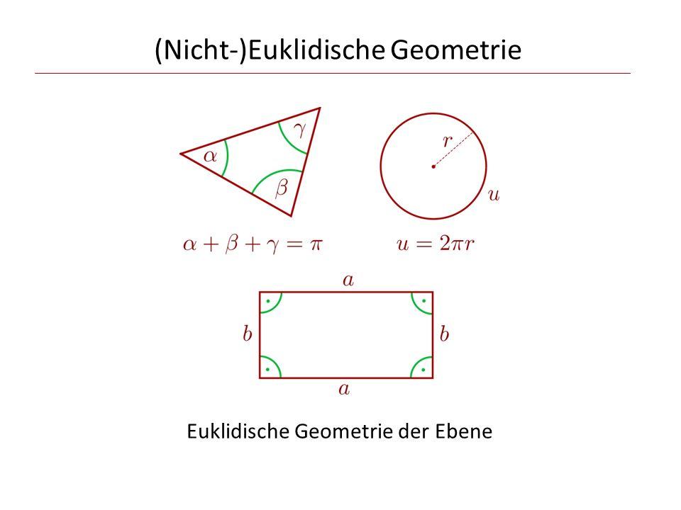 (Nicht-)Euklidische Geometrie Euklidische Geometrie der Ebene